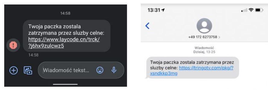 fałszywe SMSy